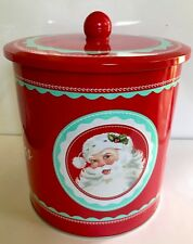 Merry Christmas santa cookie barrel / storage jar / tin Christmas storage barrel