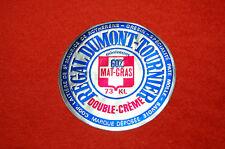 Etiquette Fromage ancienne bleu et rouge pate molle St Maurice De Rotherns