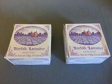Vintage Norfolk Lavender Bath Soap LOT of 2 - 5.25oz. Bars Made in England New