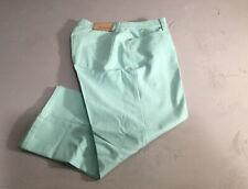 CAMBIO Women's Size 10 Turquoise Crop Capri Jeans KAREN Cotton-Blend Stretch