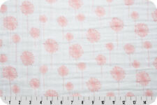 Shannon Fabrics Embrace Double Gauze - Coral Dandelions - by the yard or custom
