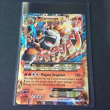 OVERSIZED Pokemon Card MEGA CAMERUPT EX JUMBO Promo XY198 + TOPLOADER - NEW!