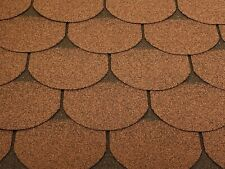 Dachschindeln 12m? Biberschindeln Braun (4 Pakete) Schindeln Dachpappe Biber