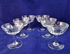 1)  suite de 6 coupes à champagne cristal de Baccarat Cassino  Réf A23/37
