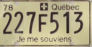 ♥Ƹ̵̡Ӝ̵̨̄Ʒ♥ AUTHENTIC CANADA 1978 QUEBEC  LICENSE PLATE. *JE ME SOUVIENS*