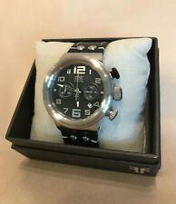 Frye 46mm unisex SAPPHIRE CRYSTAL Black Dial  Leather Multi-Dial Chrono Watch
