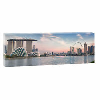 Singapore Bild Panorama Fotoleinwand Kunstdruck Wandbild XXL 150 cm*50 cm 682