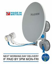 Maxview Twin Remora 40 Suction Mounted Portable Sky Satellite TV Dish Kit