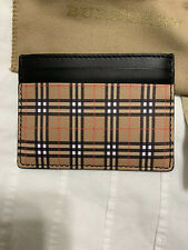 New Auth Burberry Men Unisex Vintage Checksandon Card Case Holder Wallet $295