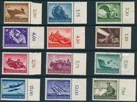 Lot Stamp Germany Mi 873-82, 84-5 1944 WWII 3rd Reich Wehrmacht Selection TR MNG