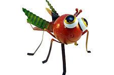 Metall Figur Deko Insekt groß rot grün Garten Terasse L 25 x H 20 cm
