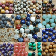 Natural Gemstone Round Spacer Loose Beads 4/6/8/10/12mm For Jewelry DIY Assorted