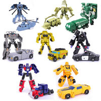 10cm Transformation Mini Robot Action Figure Cars Tank Plane Boy Girl Toys Gift
