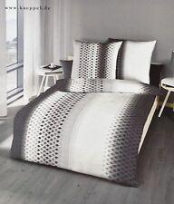 Kaeppel Bettwäsche 135 x 200 Mako Satin Baumwolle Grau Braun Schwarz Weiß Silber