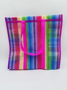 Mexican Market Bag Rausable Tote Bolsa De Mercado Pink Multicolored