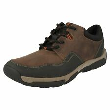 c44daa681f51 Mens Clarks Casual Waterproof Lace up Shoes Walbeck Edge UK 10 Brown G