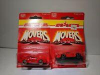 Majorette Movers 1/64 200 Series #209 Porsche 911 Turbo 2 Variations Lot of 2