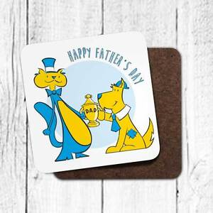 Happy Father's Day Winston and Harry coaster for Father's Day.