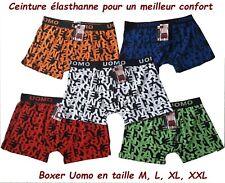 Boxer homme Coton Lot de 3 ou 6 boxers caleçon homme enfant en coton M L XL XXL