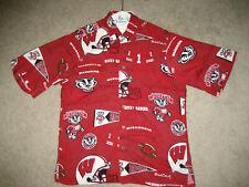 Wisconsin Badgers Hawaiian Shirt Classic 'Bucky Badger' Reyn Spooner Sz: Small