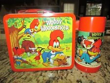 VINTAGE VERY NICE VERY RARE OLD 1972 WOODY WOODPECKER METAL LUNCHBOX & THERMOS