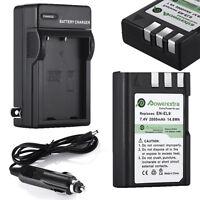 2000mAh EN-EL9a Battery + Charger For Nikon DSLR D40 D40x D60 D3000 D5000 D3X