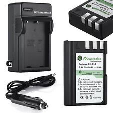 2000mAh EN-EL9a Battery + Charger For Nikon DSLR D40 D40x D60 D3000 D5000 D3X