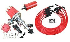 Small Cap HEI Distributor Canister Coil & Plug Wire Set For CADILLAC 390 365 331