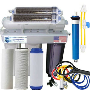 RO/DI REVERSE OSMOSIS AQUARIUM/REEF SYSTEM 6 STAGE MANUAL FLUSH VALVE 150 GPD