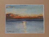 Zane Grey Fishing Camp Tahiti 'FLOWER POINT Alister MacDonald Vintage Watercolor