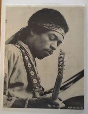 Vintage Jimi Hendrix Poster Live Performance Psychedelic Black & White 1970s