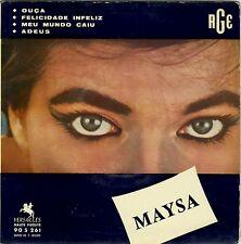 "French EP picture sleeve brasilian Maysa (Materazzo) ""Ouça"" Samba 1958 VG+/EXC"