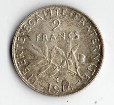 A SAISIR BELLE QUALITE MONNAIE 2 FRANCS SEMEUSE ARGENT 1914 C SPLENDIDE SILVER