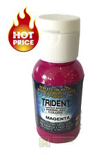 DNA TRIDENT AIRBRUSH PAINT MAGENTA WATER BASED 50ML AUTO CANVAS DIY BRUSH