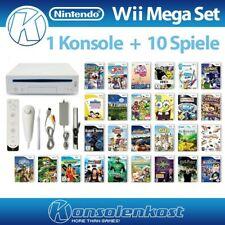 Nintendo Wii - MegaSet: Konsole in Weiß + 10 Spiele + inkl. Nunchuk & Remote