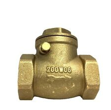 Libra Supply 1 inch, 1'', 1-inch Lead Free Brass Swing IPS Threaded Check Valve