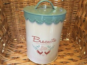 Vintage Style Biscuit barrel Storage Container Airtight 18.5cm High