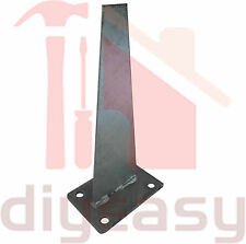 2x Shark Fin Post Bracket Hot Dip Galv Steel with 150x100 Base Plate Fence