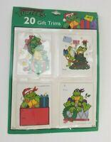 1989 TMNT Teenage Mutant Ninja Turtles Christmas Wrap Tags Vintage