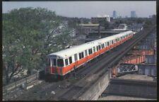 Boston MBTA Car #01279 postcard Washington St. Boston Elevated Railway 1984