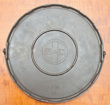 GRISWOLD SLANT LOGO CAST IRON BAILED GRIDDLE NO. 14 DOUBLE REINFORCED P/N 742