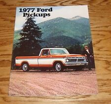 Original 1977 Ford Truck Pickup Sales Brochure 77 F-100 F-250