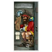 Pirate Captain Restroom Door Cover Birthday Party Wall Decoration