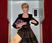 "17"" Diana Princess Of Wales Porcelain Portrait Doll By Franklin Mint,NIB"