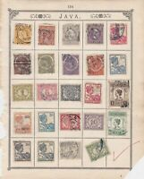 Netherland Indies Stamps on Album Page ref R 18987