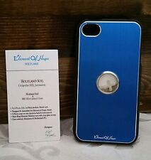L@@K iPhone Case 4 4s Holy Element Israel Christian Blue Soil Silver Cross NEW !