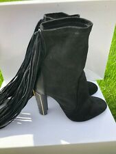 NEW Just Cavalli Fringed Suede Boots 7.5 US 38 EU