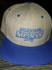 Long Beach Sharks( Ice Hockey ) snap back Cap cap grey ,blue and green adult