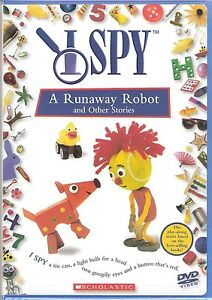 I Spy A Runaway Robot and Other Stories DVD Preschool Childrens Game TV Show