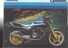 1982 HONDA CB400NC 2 Page Motorcycle Brochure NOS